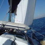 Bolina stretta verso L'isola D'Elba