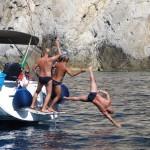Elba in barca